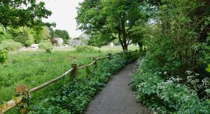 Image of Bibury footpath representing Gloucestershire County Council