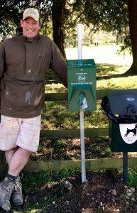 New Dog Glove Dispenser installed in Dumbleton